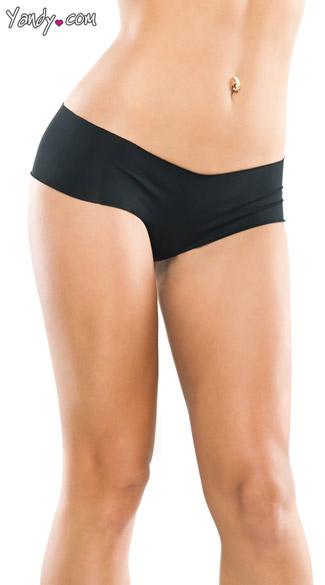 Plus Size Seamless Microfiber Panty - Black