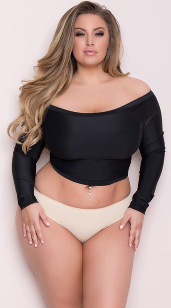 Plus Size Basic Thong - Nude