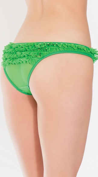 Romantic Ruffles Bikini Panty - Green