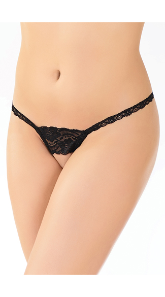 Lace Crotchless G-String, Crotchless Panties, Lace Crotchless Thong