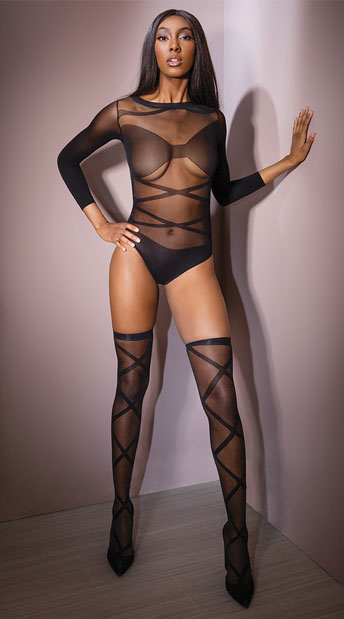 Banging Body Teddy Set - Black