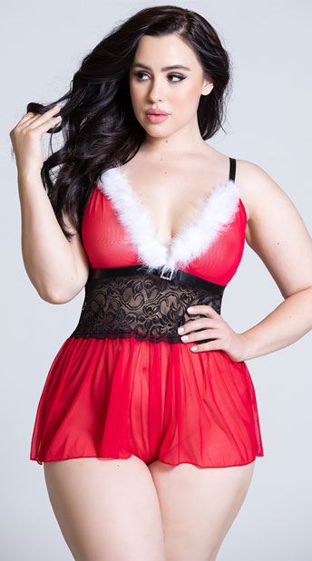 e1a975bdfe403 Plus Size Hot Helper Romper - Red Black ...