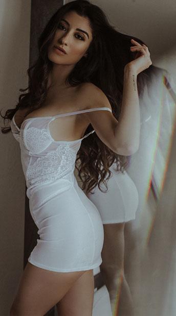 Lovely Sheer Bridal Chemise - White