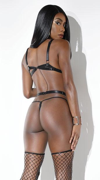 Body On Fire Strappy Body Harness - Black