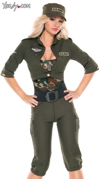 sc 1 st  Yandy & Army Girl Costume Womens Military Costume Womens Army Costume