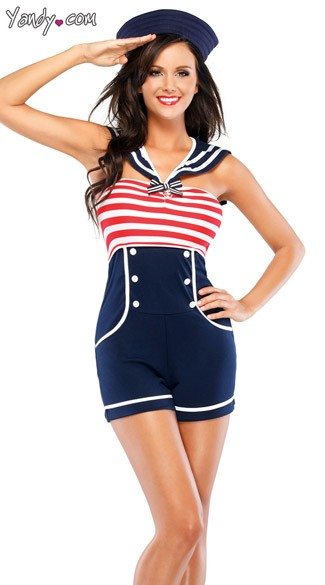 Sassy Pin Up Sailor Costume Sexy Pin Up Halloween Costume Retro Sailor Costume Female Sailor Costume Cute Sailor Costume  sc 1 st  Yandy : vintage sailor costume  - Germanpascual.Com