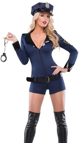 Beat Cop Costume, Cop Halloween Costumes For Women, Girl Police Officer Costume-7345