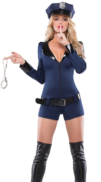 Beat Cop Costume, Cop Halloween Costumes For Women, Girl -4144