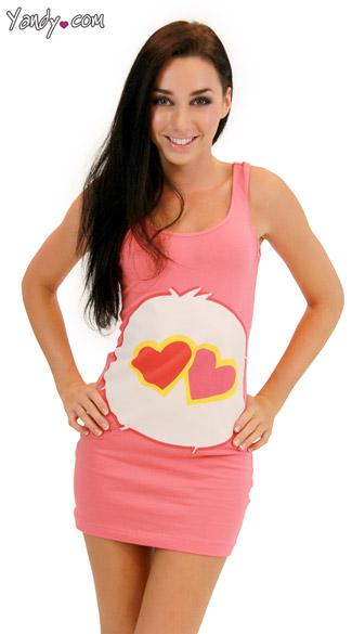 Love A Lot Care Bear Tank Dress Pink Care Bear Costume Care Bear Halloween Costume  sc 1 st  Yandy & Love A Lot Care Bear Tank Dress Pink Care Bear Costume Care Bear ...