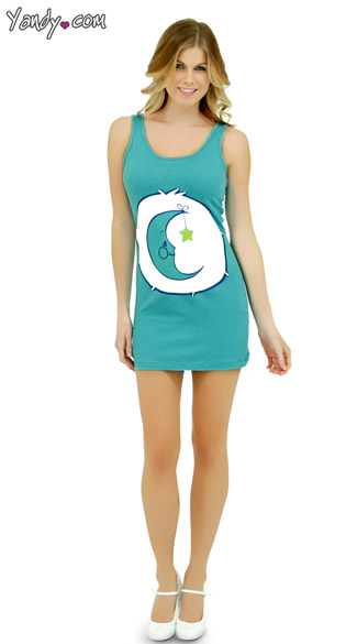 Bed Time Care Bear Tank Dress  sc 1 st  Yandy & Bed Time Care Bear Tank Dress Care Bear Costume for Adults Sexy ...