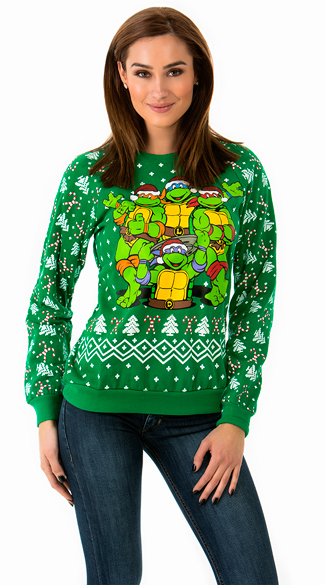 Radical Teenage Mutant Ninja Turtle Holiday Sweater, TMNT Christmas Sweater, TMNT Sweater, Ugly Christmas Sweater