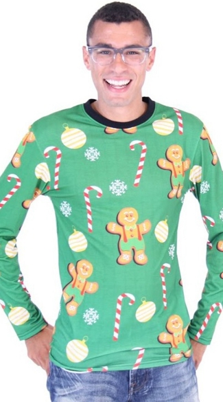 Plus Size Gingerbread Cookies Ugly Christmas Sweater Shirt - As Shown