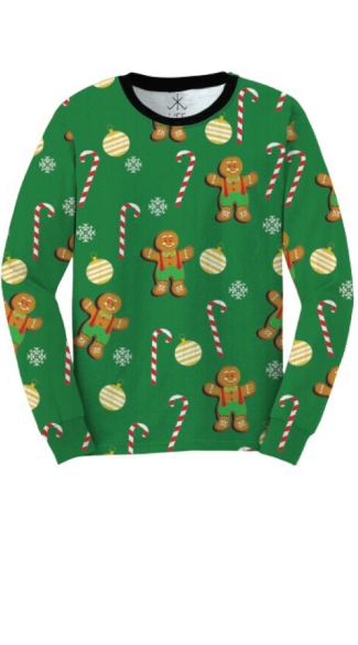 Gingerbread Cookies Ugly Christmas Sweater Shirt - As Shown