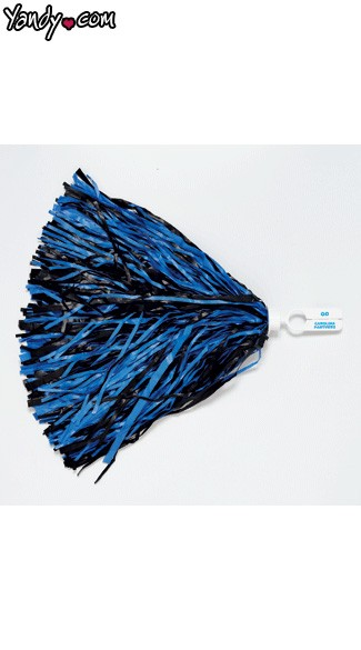 Carolina Panthers Pom Poms - Black/Panther Blue