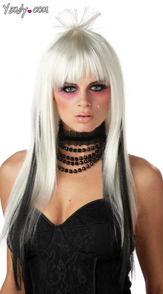 Chopstix Wig White and Black - White/Black