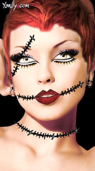 Corpse Eye & Neck Scar Stickers - As Shown
