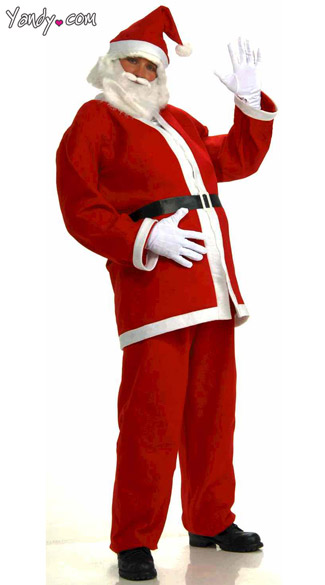 Plus Size Simply Santa Costume - Red