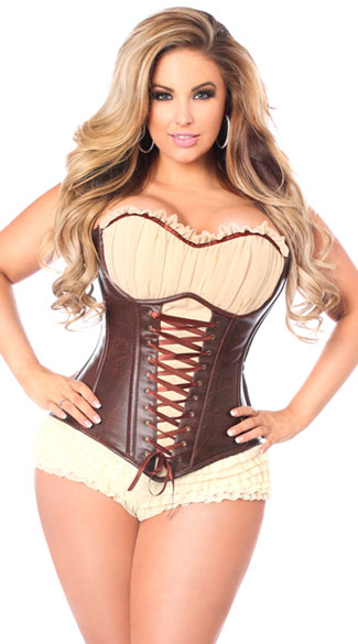 Plus Size Corset with Sleeves