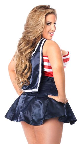 Swinging Sailor Corset Dress Costume - As Shown