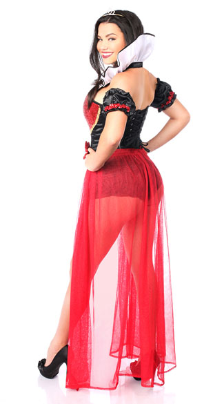 Sexy Fairy Tale Red Queen Costume - Red