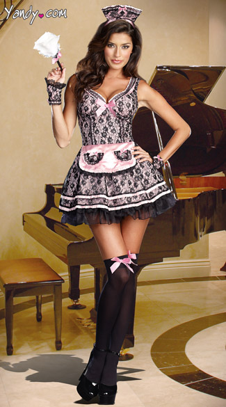sc 1 st  Yandy & Pardon My French Costume Pink French Maid Costume