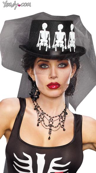 Ms. Bones Hat - Black