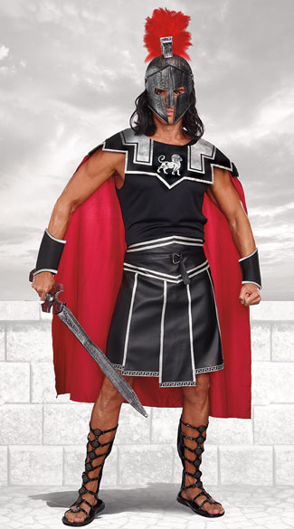 Plus Size Men's Battle Beast Warrior Costume - As Shown
