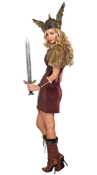 Voracious Viking Woman Costume - As Shown