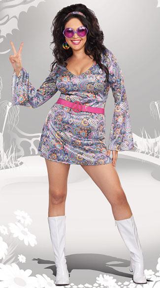 Plus Size Love Fest Disco Diva Costume Plus Size 70s Costume Plus