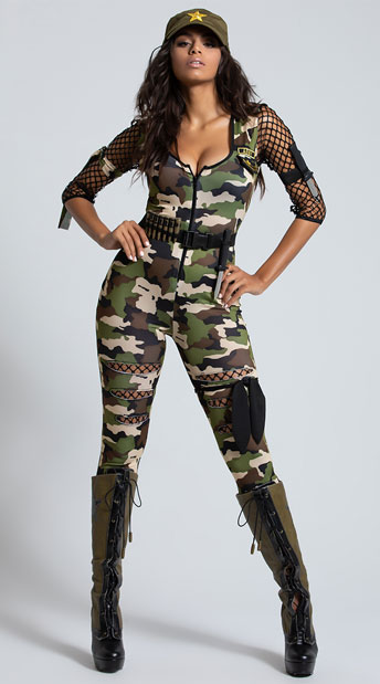 Friendly Fire Babe Costume - As Shown
