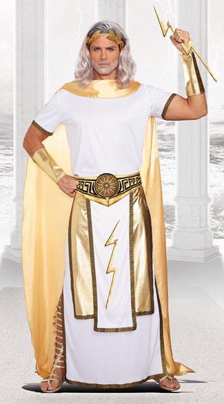 Plus Size Men's Zeus Costume - As Shown
