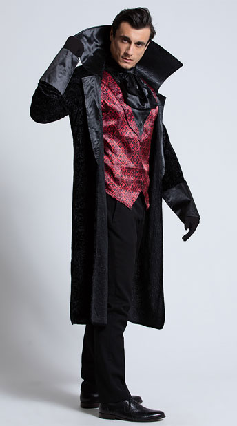 Men's Bloody Handsome Vampire Costume - As Shown