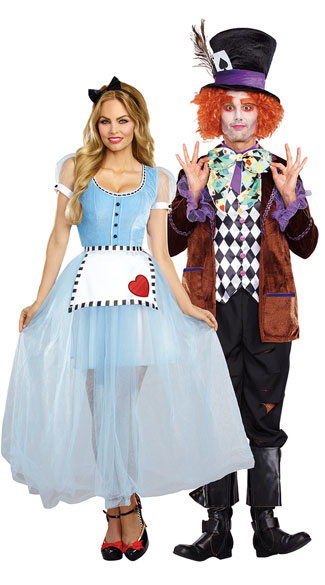 Wonderland Couples Costume, Alice Costume, sexy alice costume, wonderland costume, sexy wonderland costume, Men\'s Hatter Madness Costume, men\'s mad hatter costume, men\'s hatter costume, men\'s fairytale costume