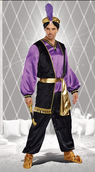 Sultan Costume, men\'s character costume, men\'s fairytale costume ...