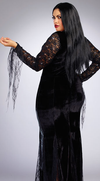 Plus Size Frightfully Beautiful Costume - As Shown