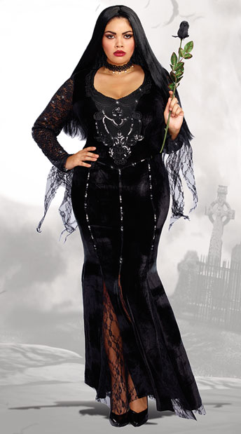 High Quality Plus Size Frightfully Beautiful Costume   As Shown ...