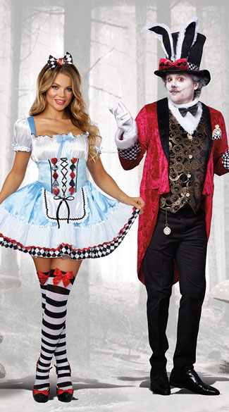 Beyond Wonderland Couples Costume  sc 1 st  Yandy & Beyond Wonderland Couples Costume Beyond Wonderland Costume Down ...