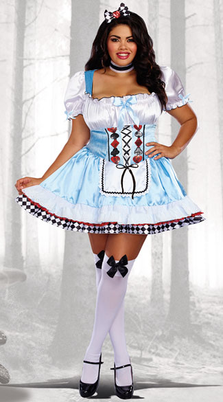 Plus Sized Beyond Wonderland Costume, Plus Size Alice Costume - Yandy.com