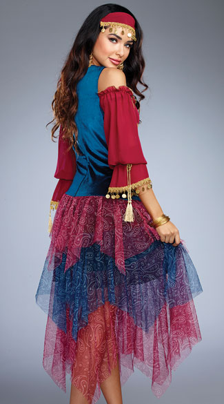 Alluring Gypsy Costume - As Shown