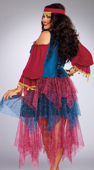 Plus Size Alluring Gypsy Costume - As Shown
