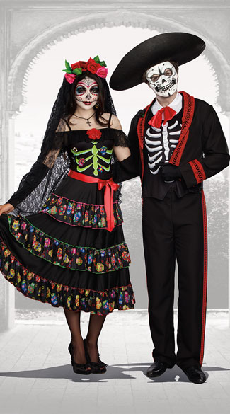 Duo of the Dead Couples Costume - as shown