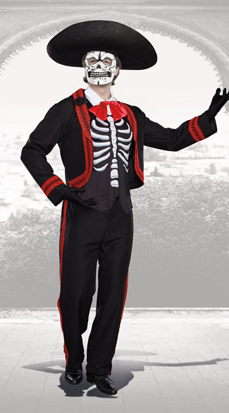 Men's Dude Of The Dead Costume - As Shown