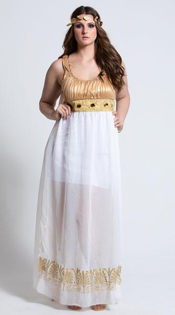 Plus Size Goddess Athena Costume - As Shown