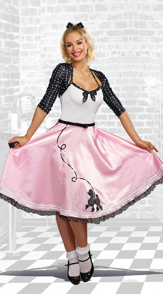 Rock Around The Clock Costume Poodle Skirt