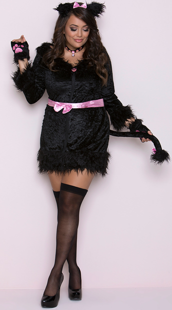Plus Size Cattitude Costume, Sultry Kitty Costume - Yandy.com