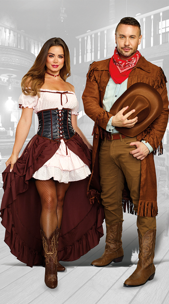 Old Western Couples Costume - as shown