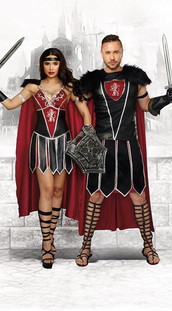Battle Fever Couples Costume Battle Beauty Costume Sexy Spartan