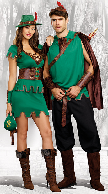 Merry Robin Hood Couples Costume - as shown