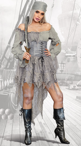 Pirate Ghost Costume - As Shown