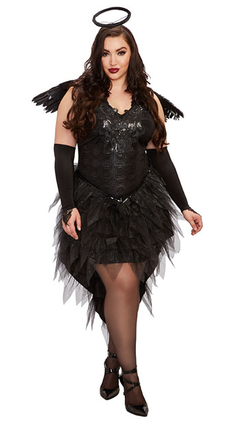 Plus Size Angel Of Darkness Costume, plus size dark angel costume - Yandy.com